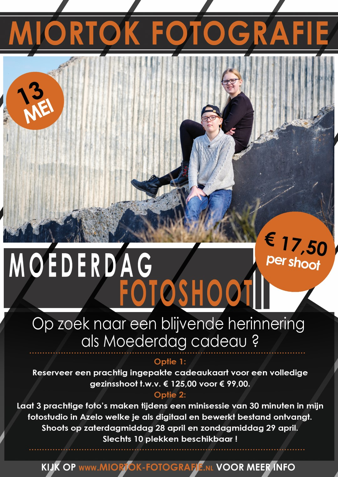 Flyer Fotoshoot Moederdag 2018